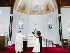 wedding ceremony Good Shepherd chapel